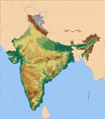 Image of a map of India