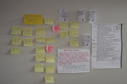 Image of Clare Flynns post it notes