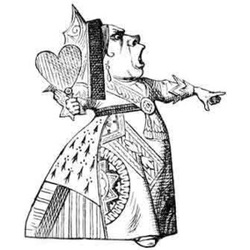 Illustration of the Queen of Hearts from Alice in Wonderland
