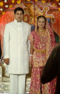 Photo of a husband and Wife at an Indian Wedding