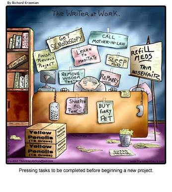 Cartoon depicting procrastination