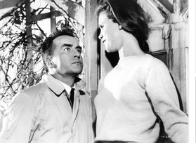 Photo of Montgomery Clift from the movie Wild River