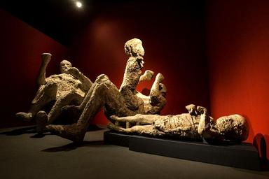 Photo of Remains of a Family from Pompei preserved in Volcanic Ash
