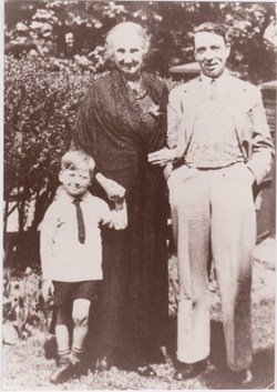 Old Photo of man woman and child