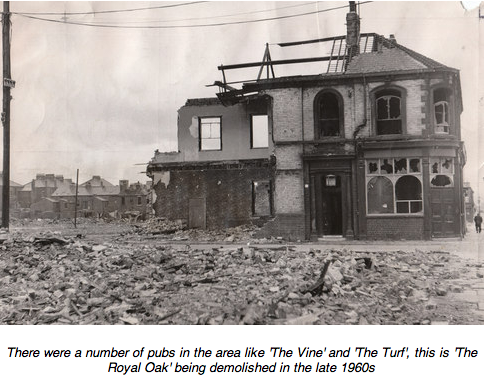 Photo of Derelict Royal Oak Pub in Middlesborough being demolished