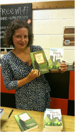 Portrait Photo of Katherine D Souza at a book signing