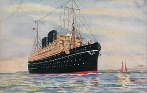 Image of Old P & O Cruise Liner