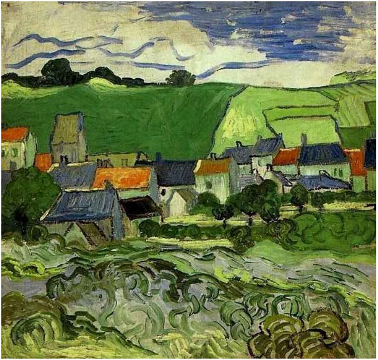 View of Auvers by Van Gogh