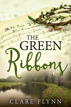 larger image of the front cover of the novel Green Ribbons by Clare Flynn