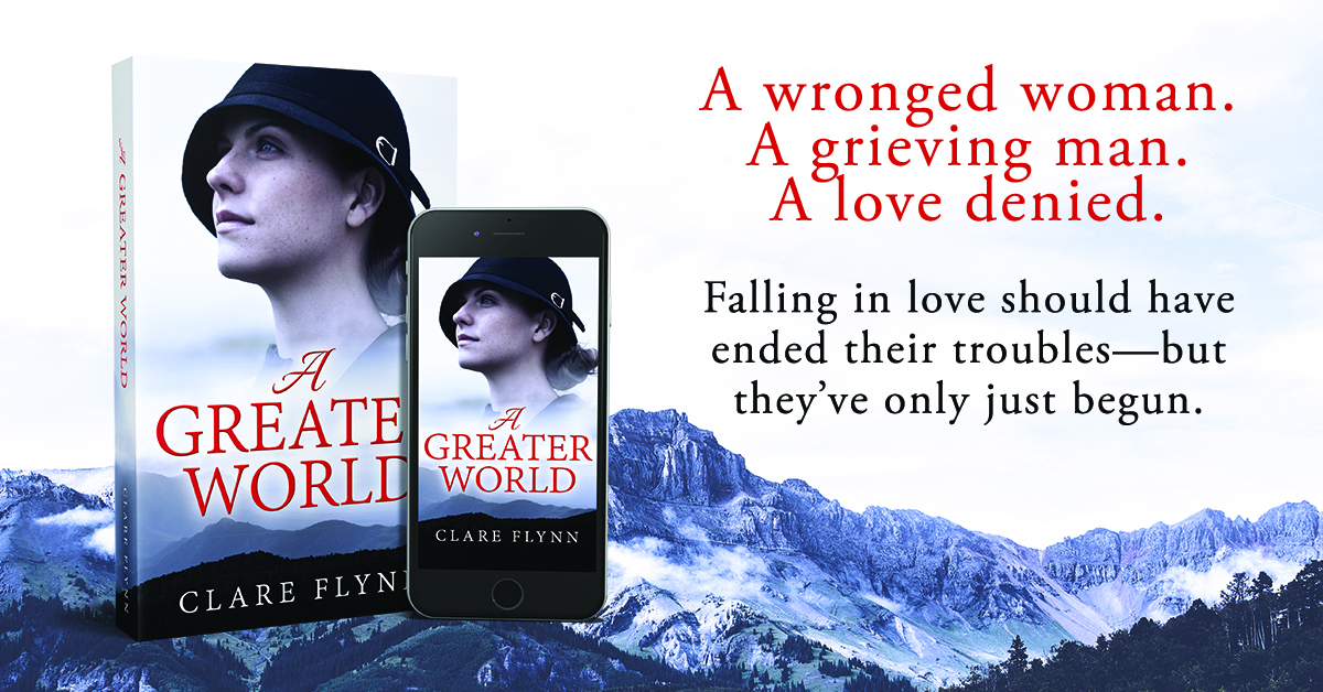 Banner Image of the front cover of The Novel 'A Greater World' by Clare Flynn