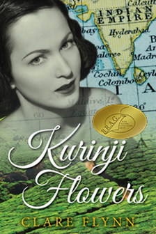 Image of the front Cover The Novel 'Kurinji Flowers' by Clare Flynn