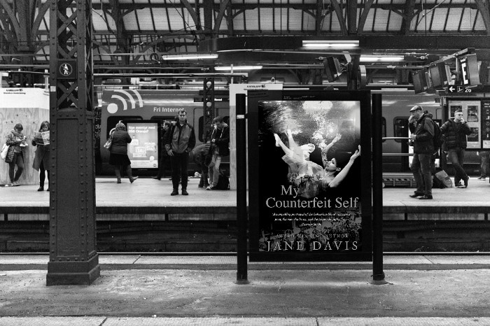 Image of Jane Davis Poster at railway station
