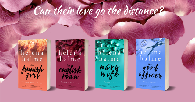 Promo Image for the novels The Finnish Girl The English Man The Navy Wife The Good Officer by Helena Halme