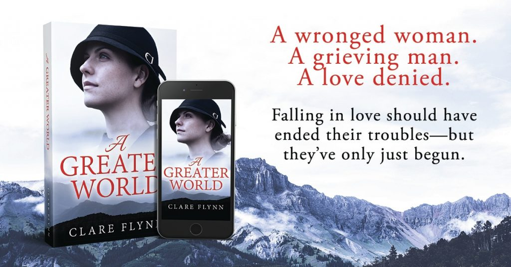 Image of poster for the novel 'A Greater World' by Clare Flynn