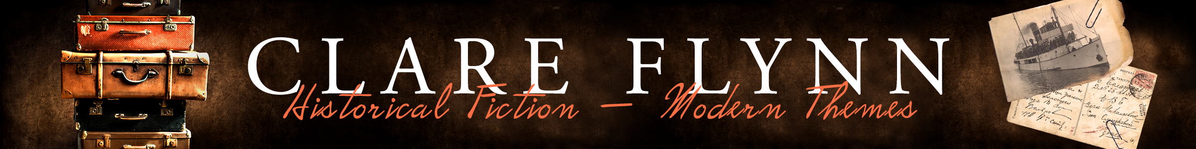 Website Header of Clare Flynn-Author of Historical Novels