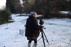 Photo of Clare Flynns Photographer outside in snowy conditions