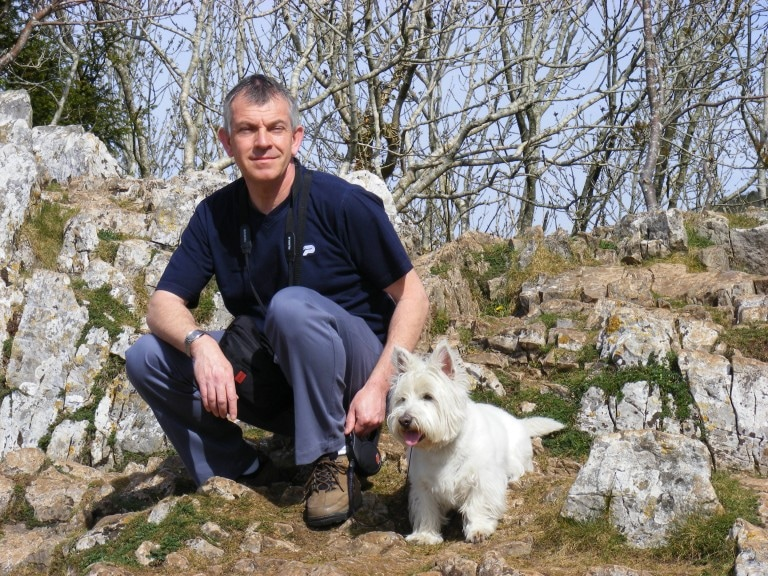 Image of The Author Robert Crouch and His Dog Harvey