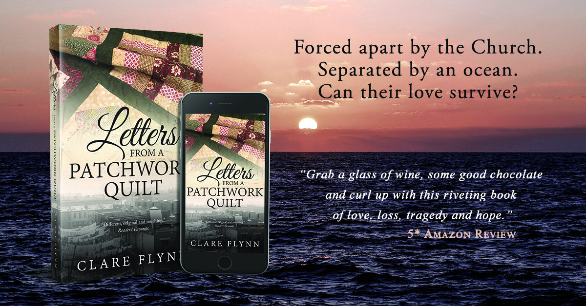 Banner Image of The Front Cover of the Novel 'Letters From A Patchwork Quilt by Clare Flynn