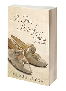 3d Book Image of the novel 'A Fine Pair of Shoes' by Clare Flynn