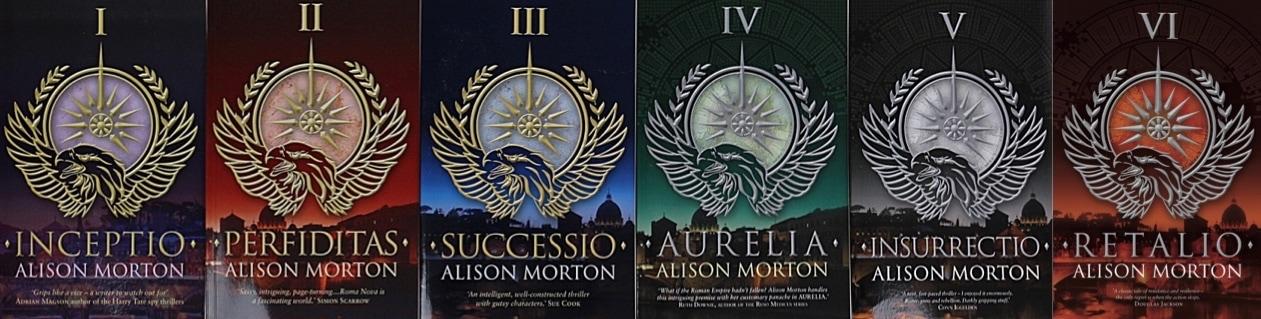 Image of 6 books by Alison Morton