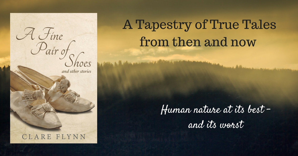 "Banner Image of the front cover of The Novel ""A Fine Pair of Shoes"" by Clare Flynn"